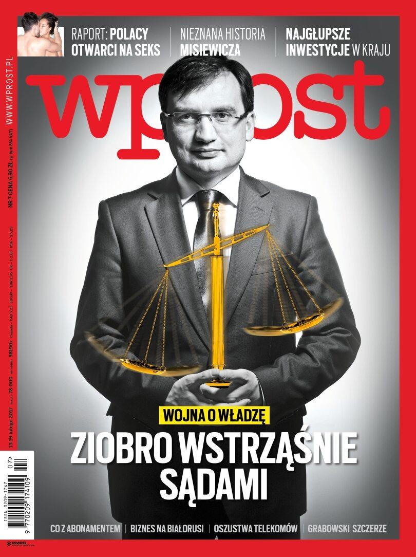 Okładka tygodnika Wprost nr 7/2017 (1774)