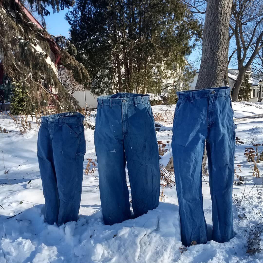 Zamarznięte spodnie