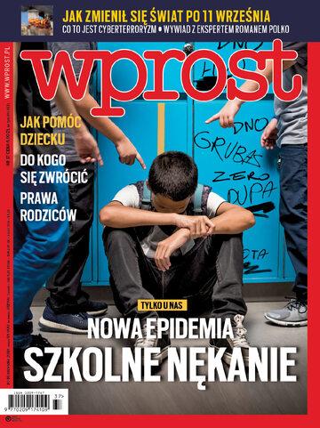Okładka tygodnika Wprost nr 37/2018 (1852)