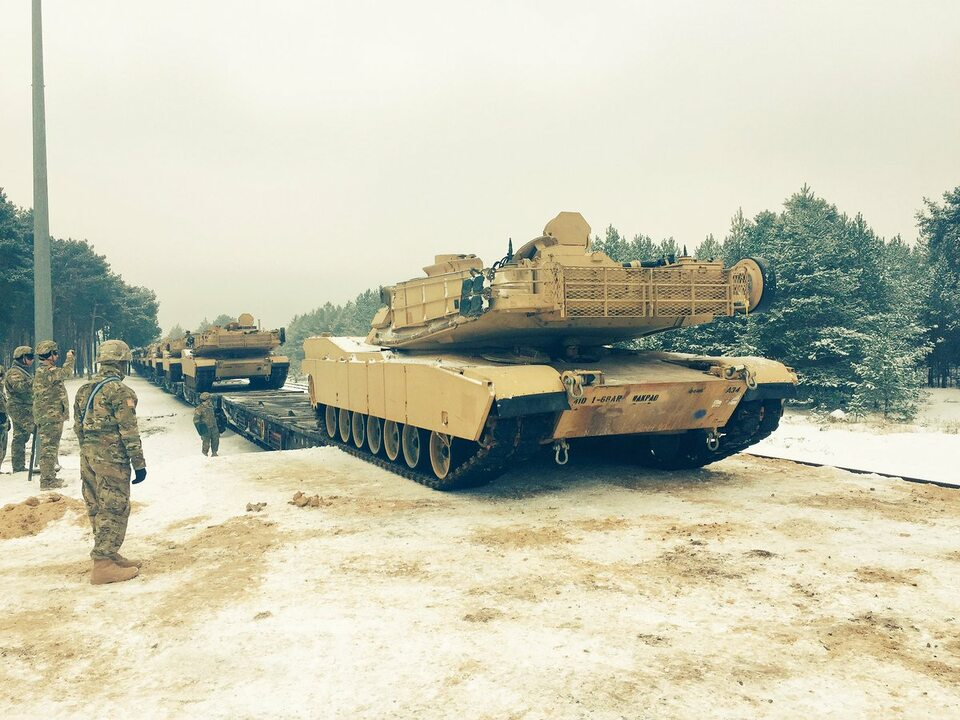 Amerykański czołg na polskiej ziemi